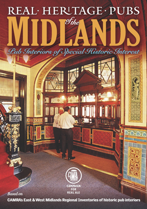 heritage pubs book cover showing interesting victorian ornate tiled pub interior
