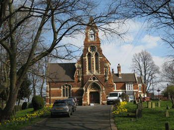 St Joseph's church: west end extension by Pugin's son Edward