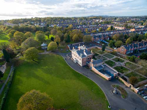 lightwoods house and park from above